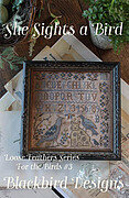 She Sights a Bird - Loose Feathers - Cross Stitch Pattern