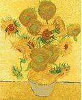 Van Gogh Sunflowers - Cross Stitch Kit