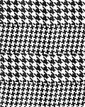 Print Scarf - 13x60 - Black and White - Houndstooth