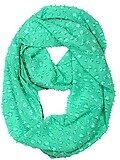 Polyester Solid Infinity Scarf - Mint Green