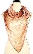 Ruffle Mesh Pleated Oblong Scarf - Brown
