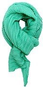 Mint Green Polyester Solid Color Accordion Scarf