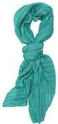 Light Blue Green Polyester Solid Color Accordion Scarf
