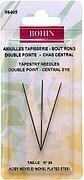 Bohin Double Point Central Eye Tapestry Needle Size 24