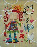 Be Hippie - Cross Stitch Pattern