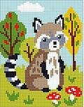 Raccoon - Stamped Needlepoint Kit