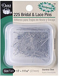 "Bridal and Lace Pins - Size 17, 1 1/16"" (27mm) - 225 Per"