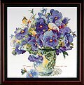 Pansy Floral - Cross Stitch Kit