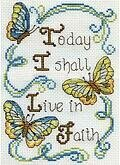 Live in Faith - Cross Stitch Kit