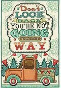 Don't Look Back - Cross Stitch Kit