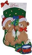 Teddy Bear Fun Christmas Stocking Felt Applique Kit