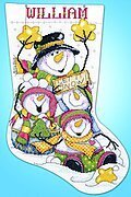 Let it Snow Christmas Stocking - Cross Stitch Kit