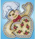 Gingerbread Christmas Ornament - Plastic Canvas Kit