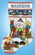 Snowman Fun Christmas Stocking - Counted Cross Stitch Kit