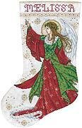 Angel Of Joy Christmas Stocking - Cross Stitch Kit