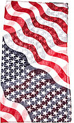 Diagonal American Flag Pattern Square Scarf