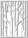 Frantic Stamper Precision Dies - Vertical Birch Trees