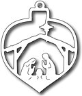 Frantic Stamper Precision Dies - Nativity Christmas Bauble