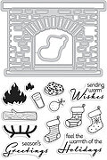 Winter Hearth - Christmas Clear Stamps With Matching Die