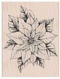 Antique Poinsettia - Rubber Stamp