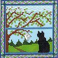 Kitty in the Spring Window - Cross Stitch Pattern