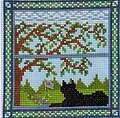 Kitty in the Summer Window - Cross Stitch Pattern