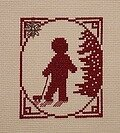 Little Boy With Pull Toy - Cross Stitch Pattern