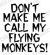 Flying Monkeys - Cling Rubber Stamp