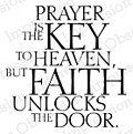 Key to Heaven - Cling Rubber Stamp