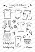 Clothesline - Clear Stamp