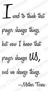 Prayer Changes Us - Cling Rubber Stamp
