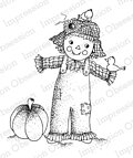 Sam the Scarecrow - Cling Rubber Stamp