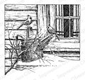 Cardinals by Window - Cling Rubber Stamp