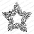 Pine Star Wreath - Cling Rubber Stamp