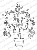 Easter Egg Tree - Cling Rubber Stamp