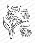 Calla Lily - Cling Rubber Stamp