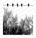 Birds on Wire - Cling Rubber Stamp