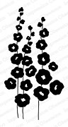 Full Bloom Hollyhocks - Cling Rubber Stamp