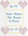 "Love 8"" x 10"" Sampler - Stamped Cross Stitch Kit"