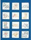 Jack Dempsey Needle Art Puppies Nursery Quilt Blocks