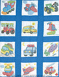 Transportation Nursery Quilt Squares - Stamped Kit