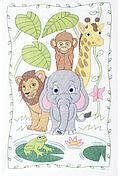 Jungle Crib Quilt Top - Stamped Cross Stitch Kit