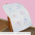 Sunbonnet Sue Lap Quilt Top - Embroidery Kit