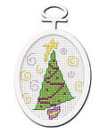 Retro Tree Mini - Beginner Cross Stitch Kit