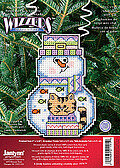Holiday Wizzers Snowman With Cat - Cross Stitch Kit