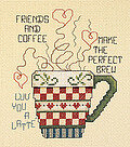 Friends and Coffee - Cross Stitch Kit