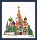 St Basil's Cathedral (linen) - Cross Stitch Kit