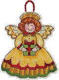 Angel Christmas Ornament - Cross Stitch Kit