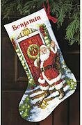 Welcome Santa Christmas Stocking - Cross Stitch Kit