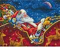 Santa's Midnight Ride - Cross Stitch Kit